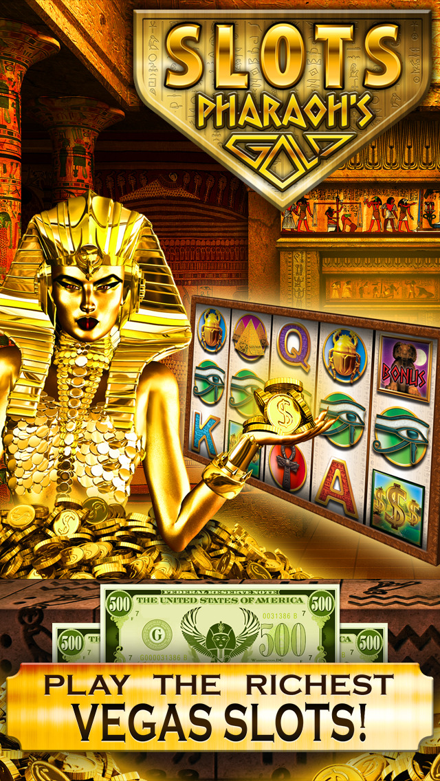 Slots Pharaoh's Gold PRO Vegas Slot Machine Games - Win Big Bonus Jackpots in this Rich Casino of Lucky Fortune