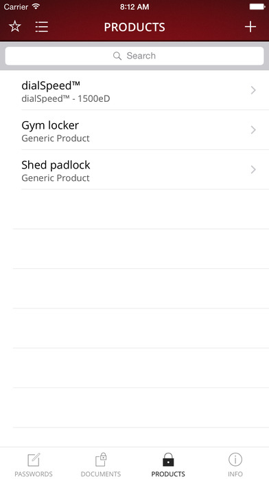Master Lock Vault iPhone Screenshot 3