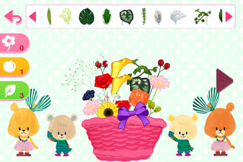 TINY TWIN BEARS' arrange Flowers screenshot 4