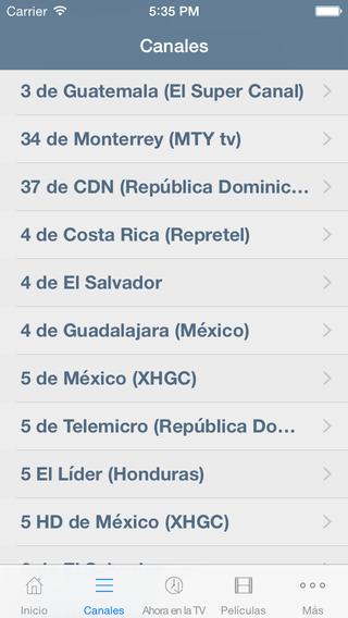Televisión de Guatemala Guía