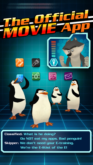 Penguins of Madagascar Movie App