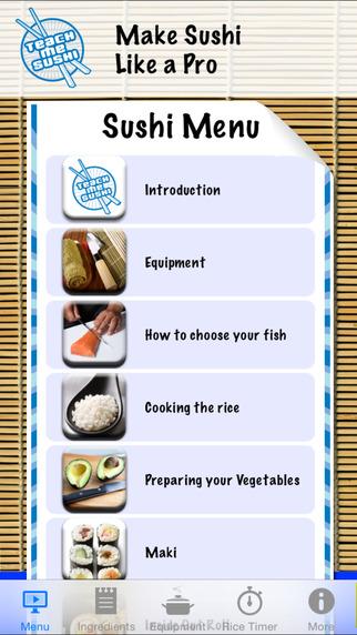 Teach Me Sushi iPhone Screenshot 1