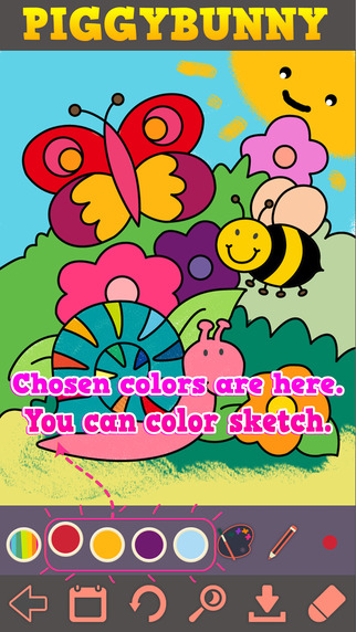 Animal Coloring Painting Drawing Sketch Book for kids by PIGGYBUNNY