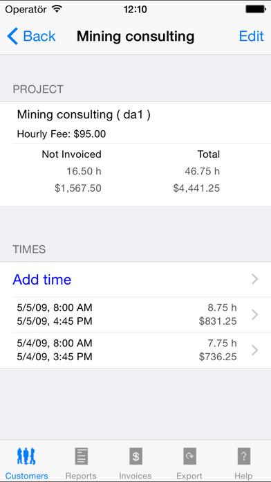 Timereporter iPhone Screenshot 2