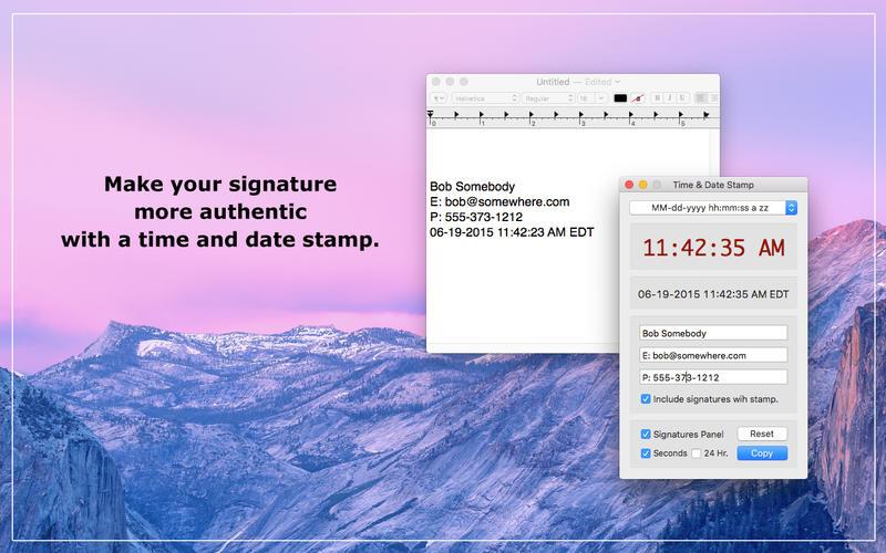 Time  Date Stamp Screenshot - 4