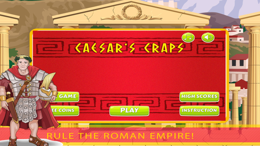 Caesar Rules Craps FREE - Roll the dice and beat the odds