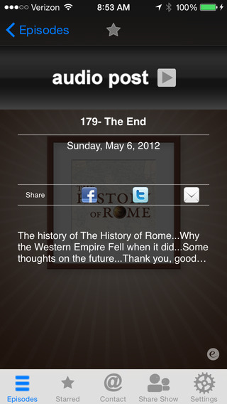 The History of Rome – Audio Podcast App iPhone Screenshot 2