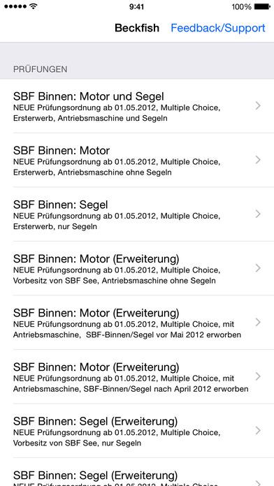 Sportbootführerschein Binnen iPhone Screenshot 2