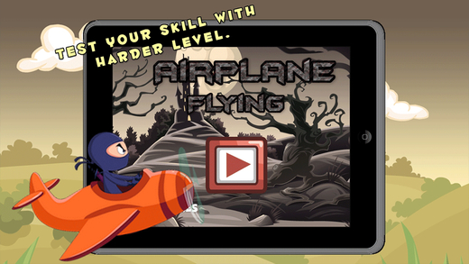 Fly to park xtreme army airplane low flying landing and parking simulator
