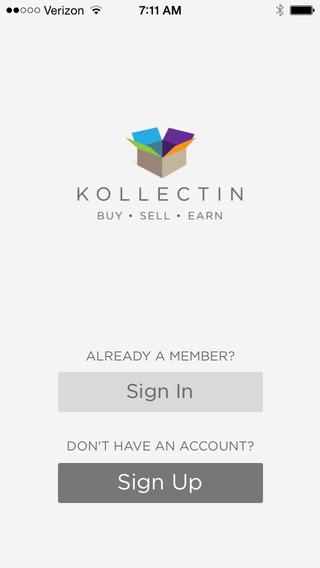 Kollectin - Peer-to-peer e-commerce