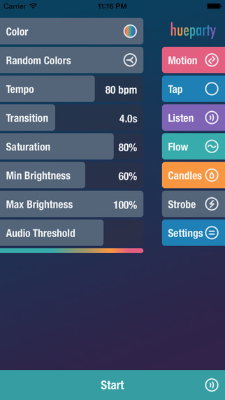 Hue Party for Philips Hue and LIFX