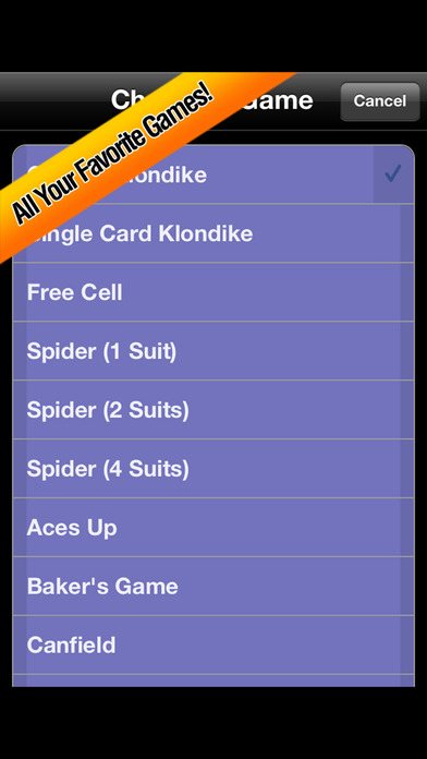 Solitaire iPhone Screenshot 2