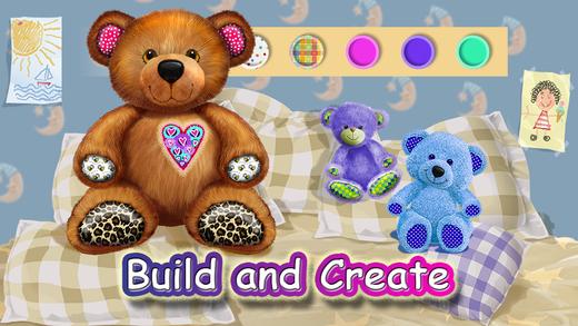 Build A Teddy Bear - Sing Along Songs Lullabies - Create Design Dress Up Feed Your Toy Bears - Anima