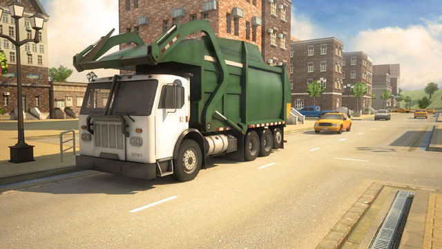 3D Garbage Truck Parking 2 - Crazy Trash Driving School Simulator Park Racing Games