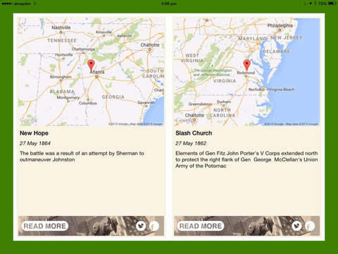 American Civil War Daily Lite iPad Screenshot 1