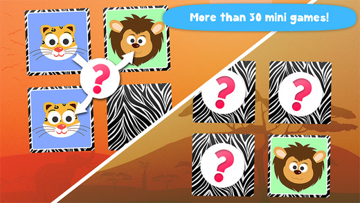 Play with Wild Animals - The 1st Cartoon Memo Game for a toddler and a whippersnapper free