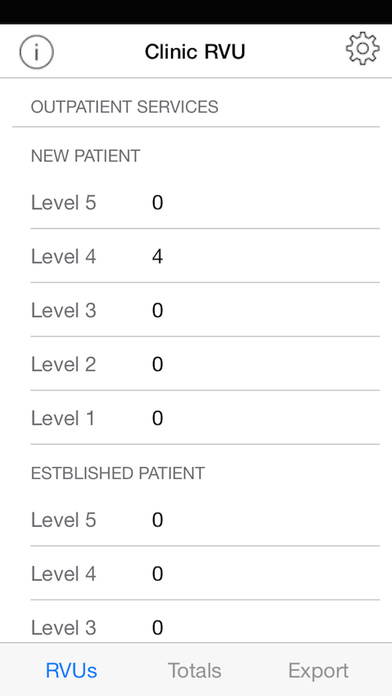 iRVU: Clinic - Medical productivity tracking app iPhone Screenshot 1