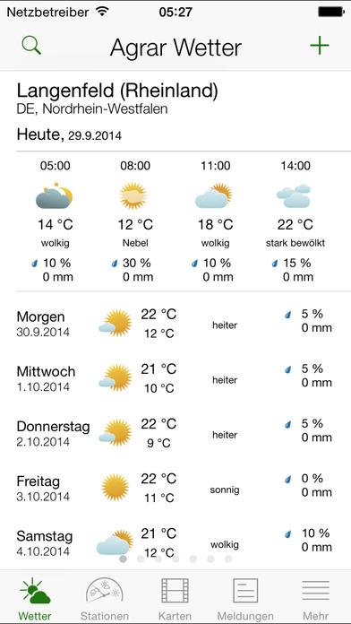 BayDir Wetter iPhone Screenshot 1
