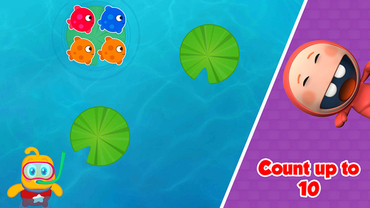 Learn to Count 1234 with Fishes - Numbers Counting Quantity Match Math Puzzle : Memory IQ for toddle