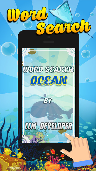 """Word Search Ocean """"Under Water World Sea Edition"""""""