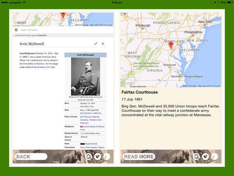 American Civil War Daily iPad Screenshot 2