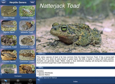 HerptileId - Reptiles and Amphibians of the British Isles iPad Screenshot 1