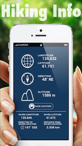 Hiking Info - GPS Compass Altitude Distance