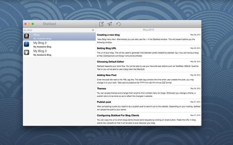 Statiked – 创建、发布静态博客[OS X]丨反斗限免
