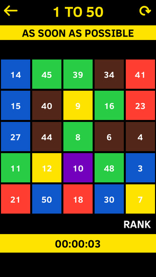 Number Game - 2048 1 To 50 The Four Compare