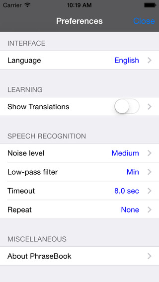 English-Chinese Cantonese Simplified Talking Travel Phrasebook iPhone Screenshot 4