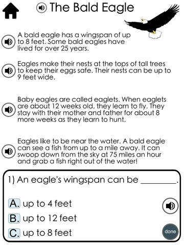 Reading Comprehension Passages with Multiple Choice Questions ~ Guided Reading Levels G H Free