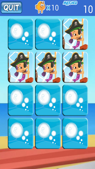 Matching Card Game For Bubble Guppies Version