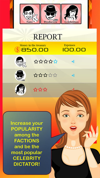 Celebrity Dictator Story - a hollywood movie star word quiz high school teen girl game