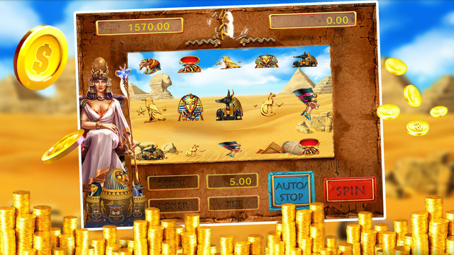 Ancient Egypt Symbol - 777 Slots Casino with Lucky Lottery Bonanza