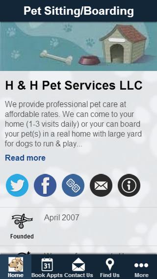 H H Pet Services Mobile App