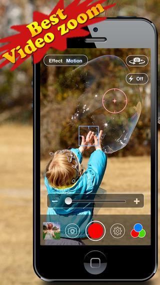 专业摄像机:Video Zoom Pro: HD Camera with Live Zoom, Effects, Pause and Video Sharing