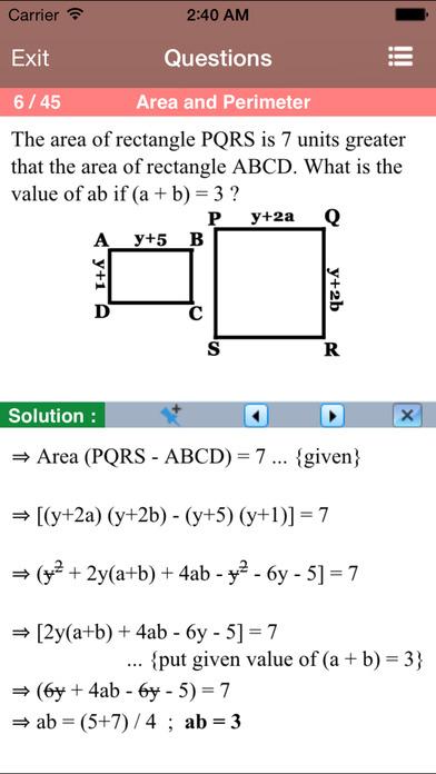 PSAT Math Aptitude iPhone Screenshot 4