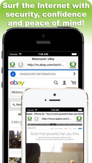 Secure Web Browser iPhone Screenshot 5