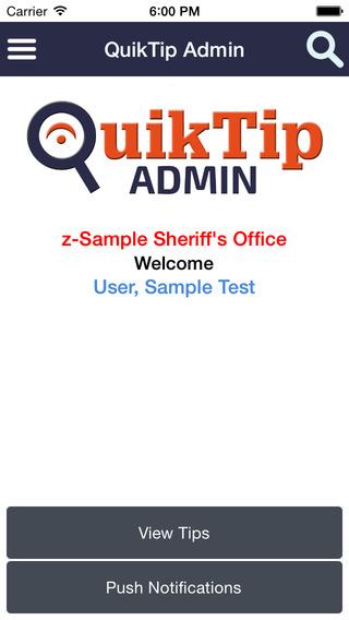 QuikTip Admin