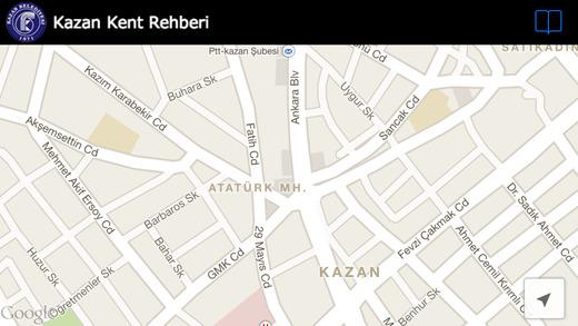 Kazan Kent Rehber Haritası
