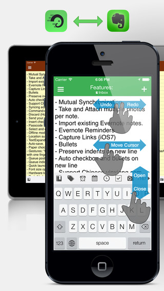 Textever – take Evernote notes on the fly Free.