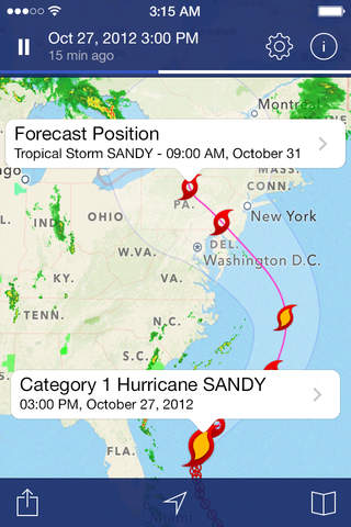 iphone NOAA Radar Pro – Severe Weather Alerts,  Forecast & Hurricane Tracker Screenshot 3