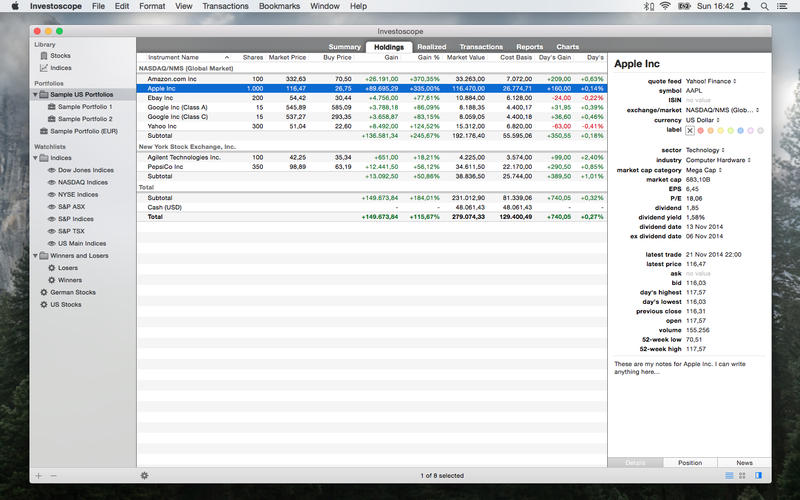 Investoscope Screenshot - 3