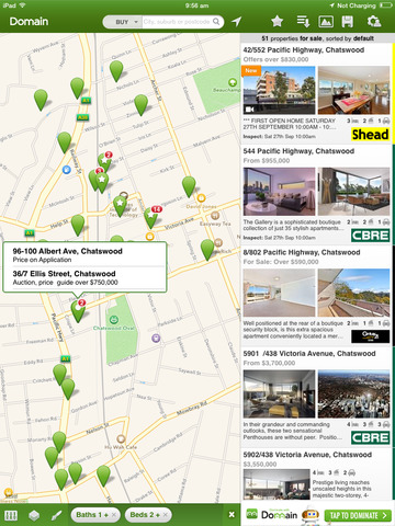 Domain Real Estate and Property for iPad