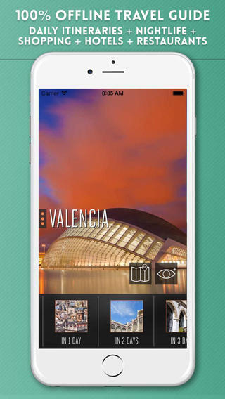 Valencia Travel Guide with Offline City Street Maps