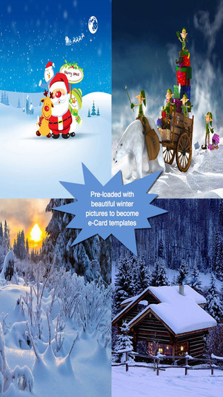 Happy Winter Greeting Cards.Happy Winter e-Cards.Christmas Greeting