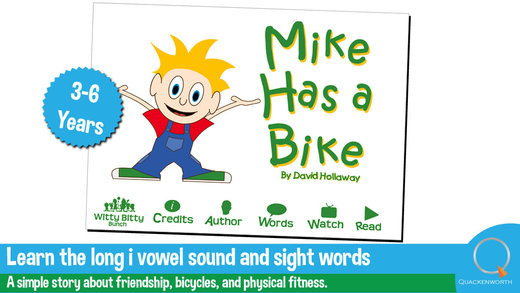 【免費教育App】Read & Rhyme: Mike has a Bike | A rhyming story that teaches friendship and physical fitness as well as the long i vowel sound-APP點子