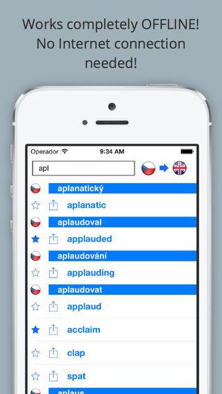 Offline English Czech Dictionary FREE Anglicko český slovník