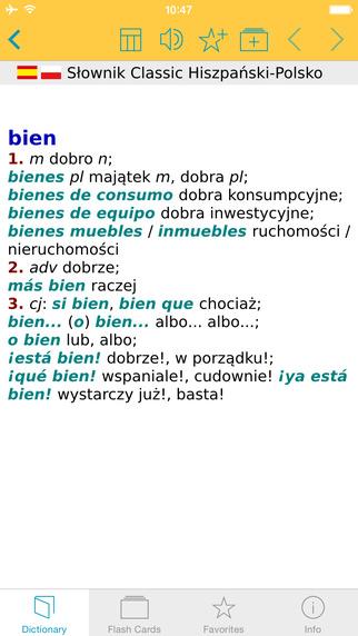 Słownik CLASSIC polsko hiszpańsko