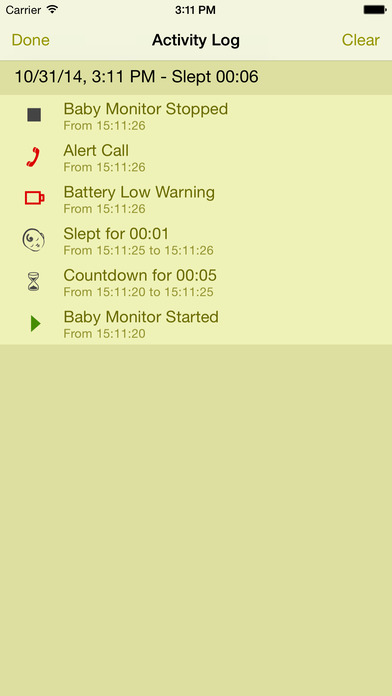 Safe Baby Monitor - Free Babyphone with Lullabies screenshot